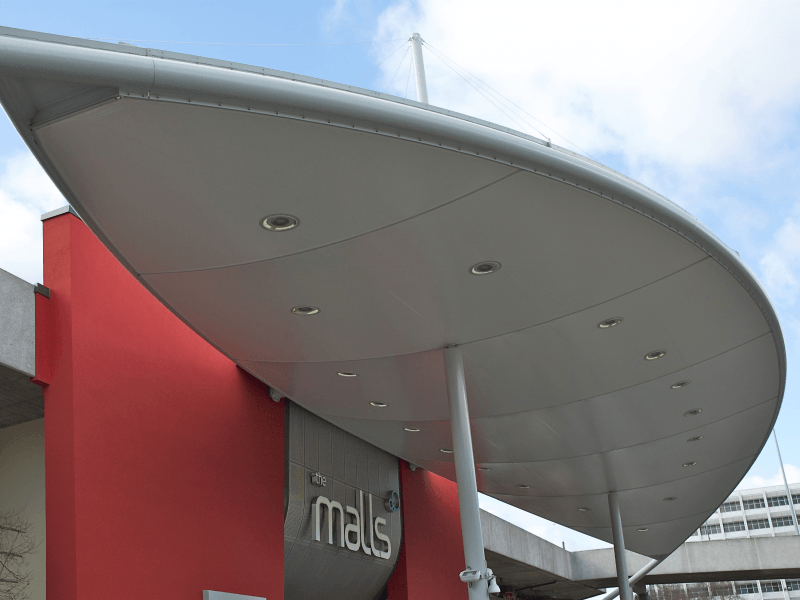 The Malls Entrance Canopy Tensile Canopy Structure J Amp J