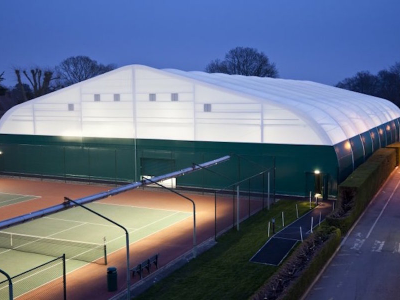 Winchester Tennis Club - Tensile Fabric Frame structure