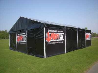branded corporate event marquees